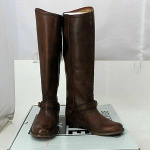NWT! Frye Tall Whiskey Leather Riding Boots